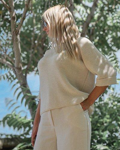 Женский вязаный свитер Fiore бежевый