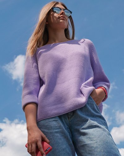 Женский вязаный свитер Fiore лавандовый