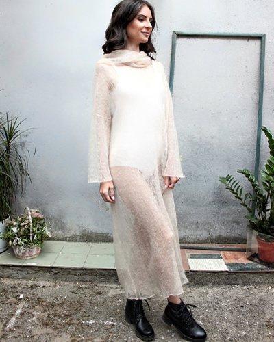 Женское вязаное платье-паутинка Camelottino